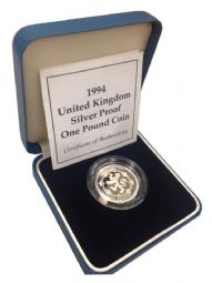 1994 Silver Proof One Pound Coin for sale